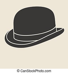 Bowler hat - Vintage man s bowler hat label Design template...