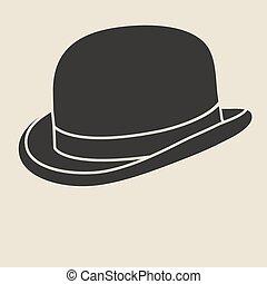 Bowler hat. - Vintage man s bowler hat label. Design...