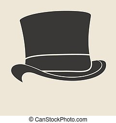 Top hat - Vintage man s top hat label Design template for...