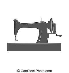 Isolated sewing machine. Design template for label, banner,...