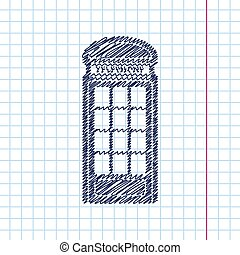 Vector flat icon - Vector telephone box icon isolated on...