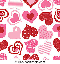 Red and Pink Hearts Pattern
