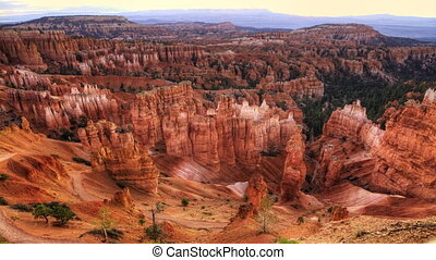 Timelapse sunrise at Bryce Canyon