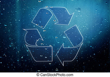 Element recycling simbols - Element naturel recycle. Three...