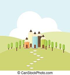 Color Pencil Village