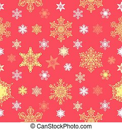 Ornate Christmas Snowflakes Seamless Pattern graphic design