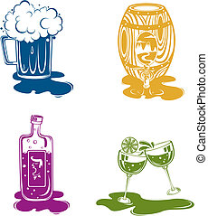 liquor - four liquor pattern design