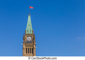 Peace Tower at Parliament Building Ottawa Canada
