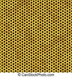 gold metal perforated sheet seamless pattern