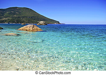 Afales Bay in Ithaca island - Afales Bay in Ithaca island...