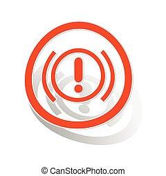 Alert sign sticker, orange
