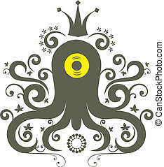 octopus - ornament octopus character pattern design.