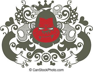 orangutan - ornament orangutan character pattern design.