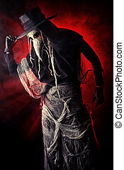 pandemic - Terrible plague doctor Medieval Europe Halloween...