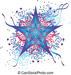 abstract star design - star design, abstract decorative...