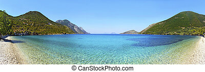 panoramic photo in Ithaca Greece - panoramic photo of a...
