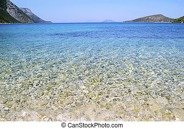 Pisaetos beach in Ithaca island Greece