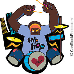 drummer - a image of funky drummer