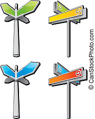 route sign - arrow route sign background