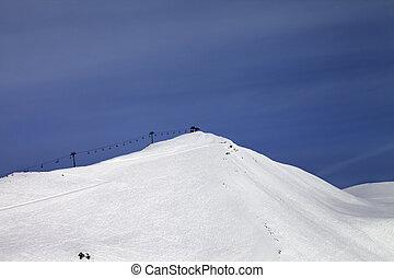 Ski slope and ropeway Georgia, ski resort Gudauri Caucasus...