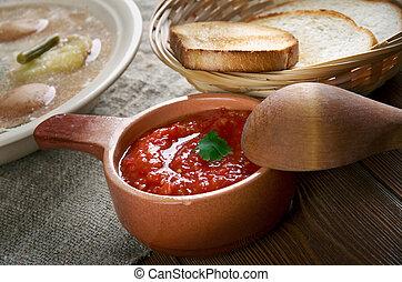 Russian sauce adjika - version Caucasian dish