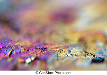 Thin layer of the titan on a quartz surface Macro -...