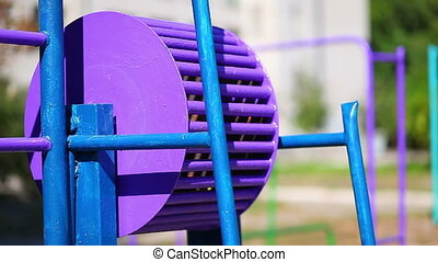 Sports Equipment Street Playground rotate in park
