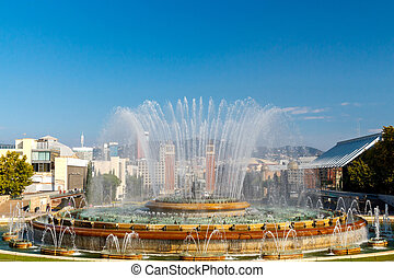Magic Fountain in Barcelona.
