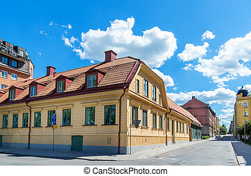 Norrkoping. Sweden - Street in old town of Norrkoping....