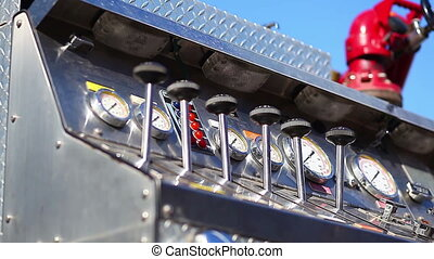 fire engine car elements on the fire