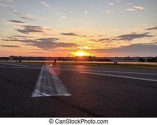 Tempelhofer Feld - On Tempelhofer Feld on a summer evening...