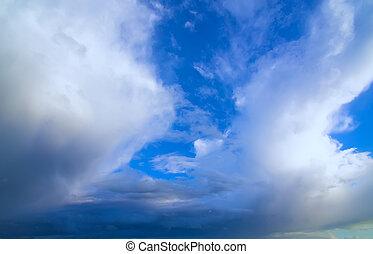 bello, cielo, nuvoloso