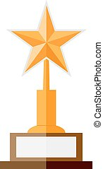 illustration of gold star award - Gold star award. Flat...