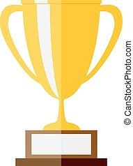 illustration of gold trophy.