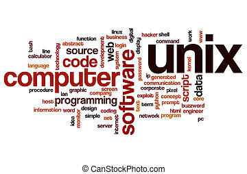 Unix word cloud concept - Unix word cloud