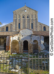 Ancient Basilica of Santa Maria Assunta, is located on the...