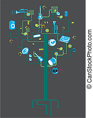 musical instrument element tree.