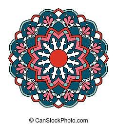 Mandala. Ornamental round pattern.