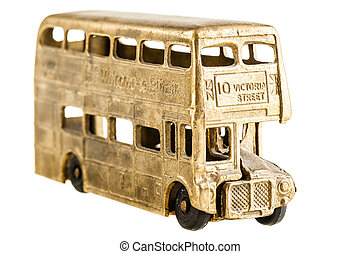 British bus - a vintage retro double decked british bus toy...