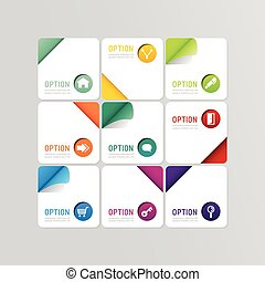 Modern banner button with social icon design options Vector...