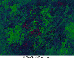 Rolling Terrain - Vivid tableau in blue and green