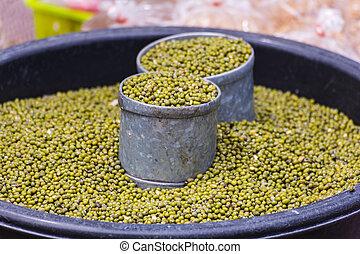 Green bean seed in thai market