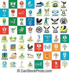 large set of vector logos of sports and fitness