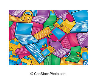 electronic products texture background.