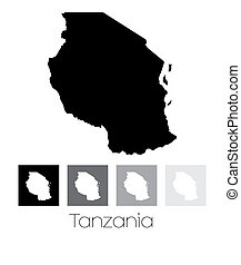 Map of the country of Tanzania - A Map of the country of...