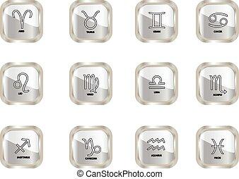 zodiac button