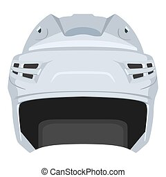 Hockey helmet - White hockey helmet on a white background