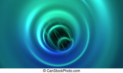 Tron legacy tunnel animation - Camera flowing through vein...