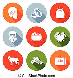 Custom wedding - bride price Icons Set. Vector Illustration....