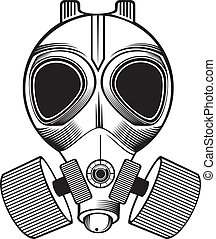 gas mask - black and white gas mask